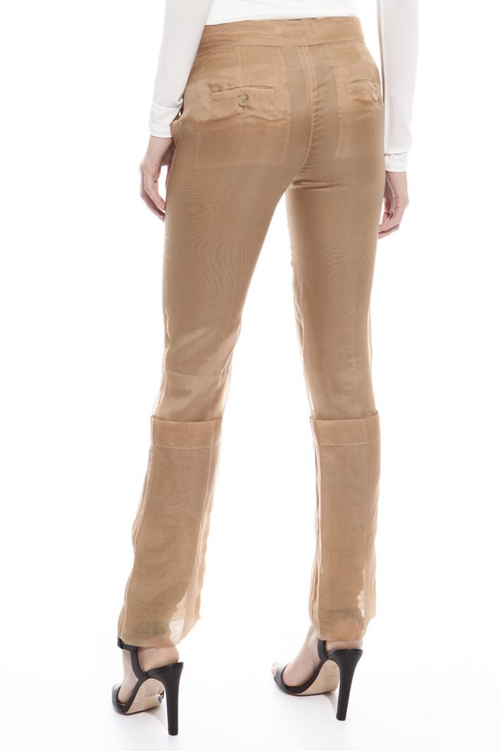 Silk organza trousers Diffusione Tessile