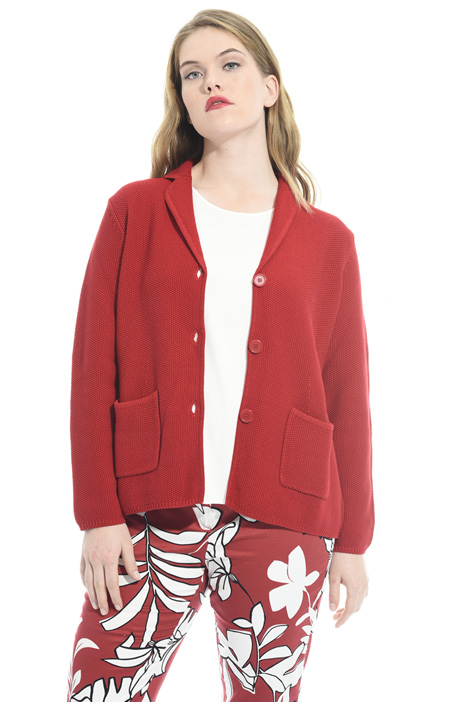 Cardigan blazer in cotone Diffusione Tessile