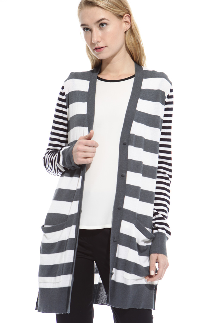 Silk and cash mete cardigan Intrend