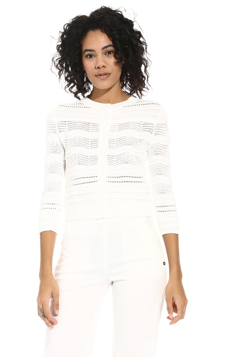 Mesh viscose cardigan Intrend