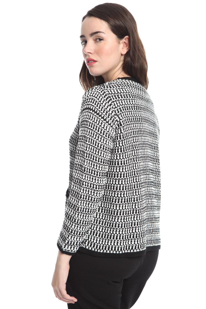 Two-tone knit cardigan Intrend