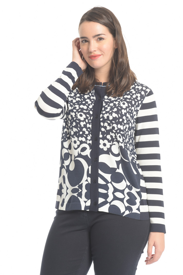 Cardigan in viscosa stretch Intrend