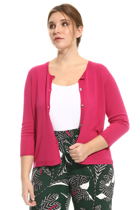 Stretch viscose cardigan Diffusione Tessile
