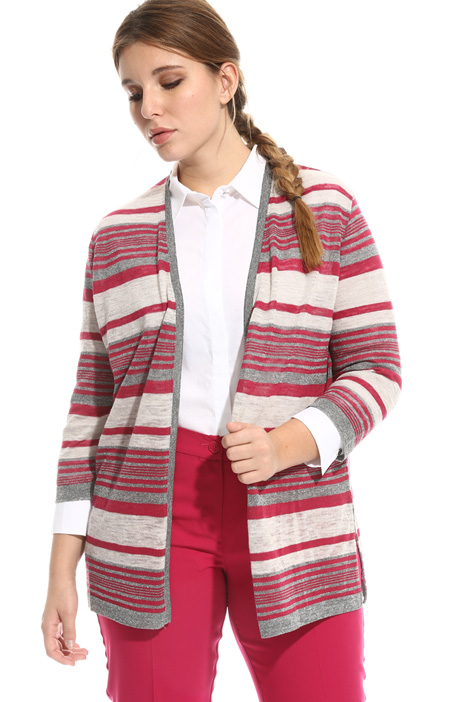 Striped linen cardigan Intrend