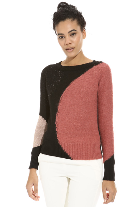 Lurex inlay sweater Intrend