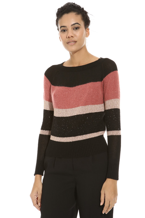 Lurex stripe sweater Intrend