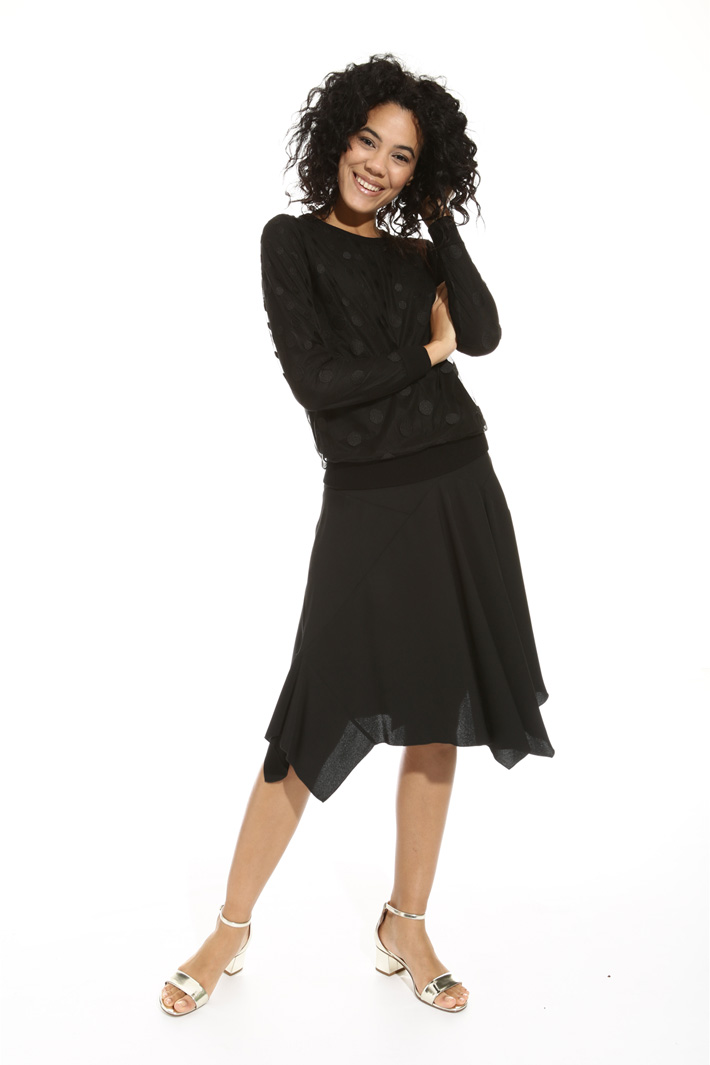 Tulle overlay sweater Intrend