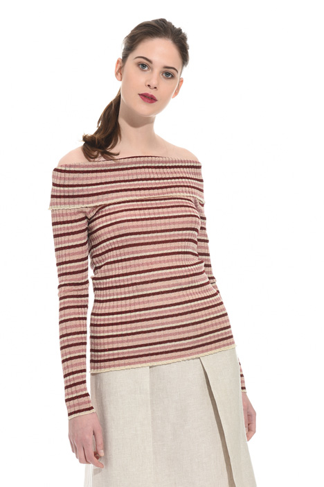 Striped lurex sweater Intrend