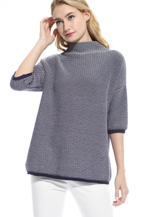 High neck boxy fit sweater Diffusione Tessile