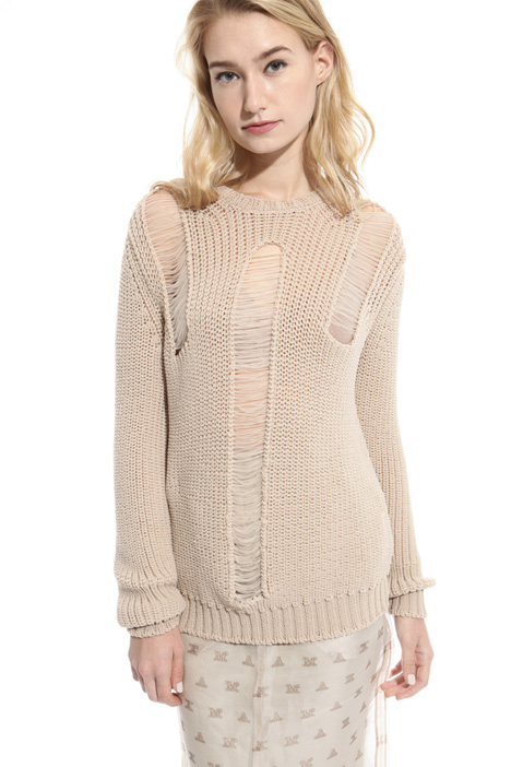 Chain stitch knit sweater Intrend