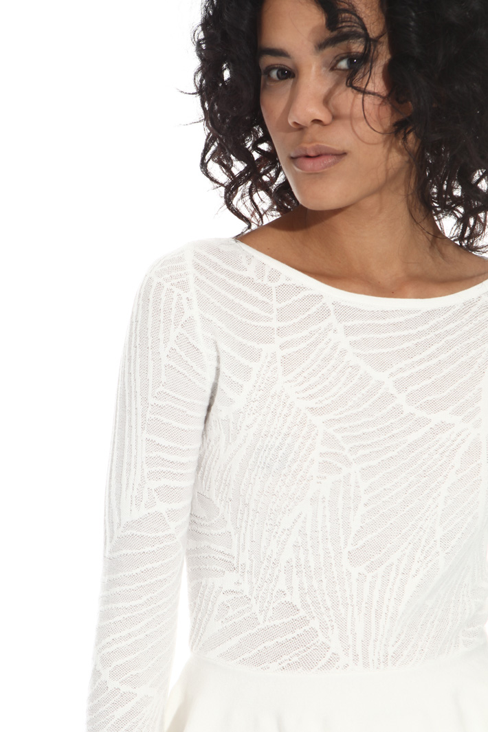 Jacquard sweater with ruffles Intrend