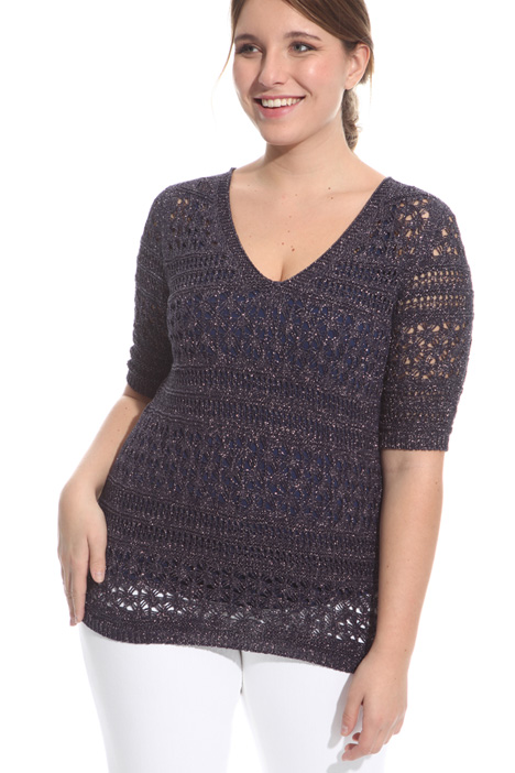 Lurex crochet sweater Intrend
