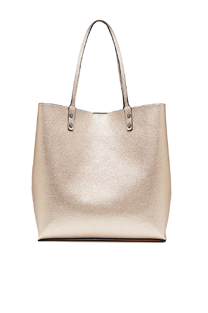 Coated-effect shopping bag Intrend