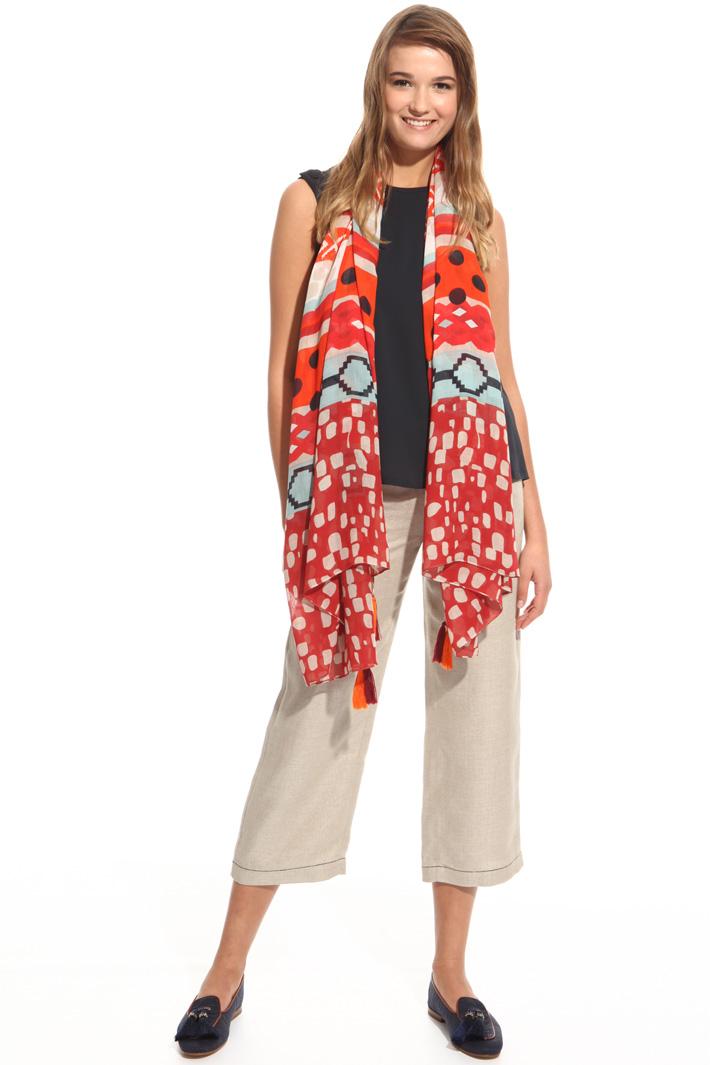 Geometric pattern scarf Intrend