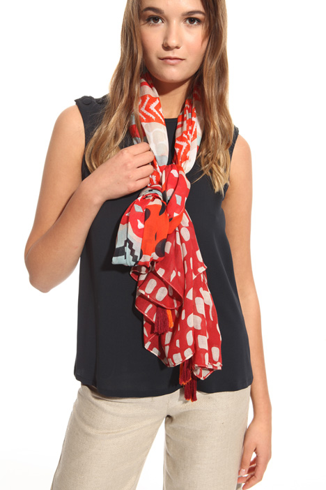 Geometric pattern scarf Intrend