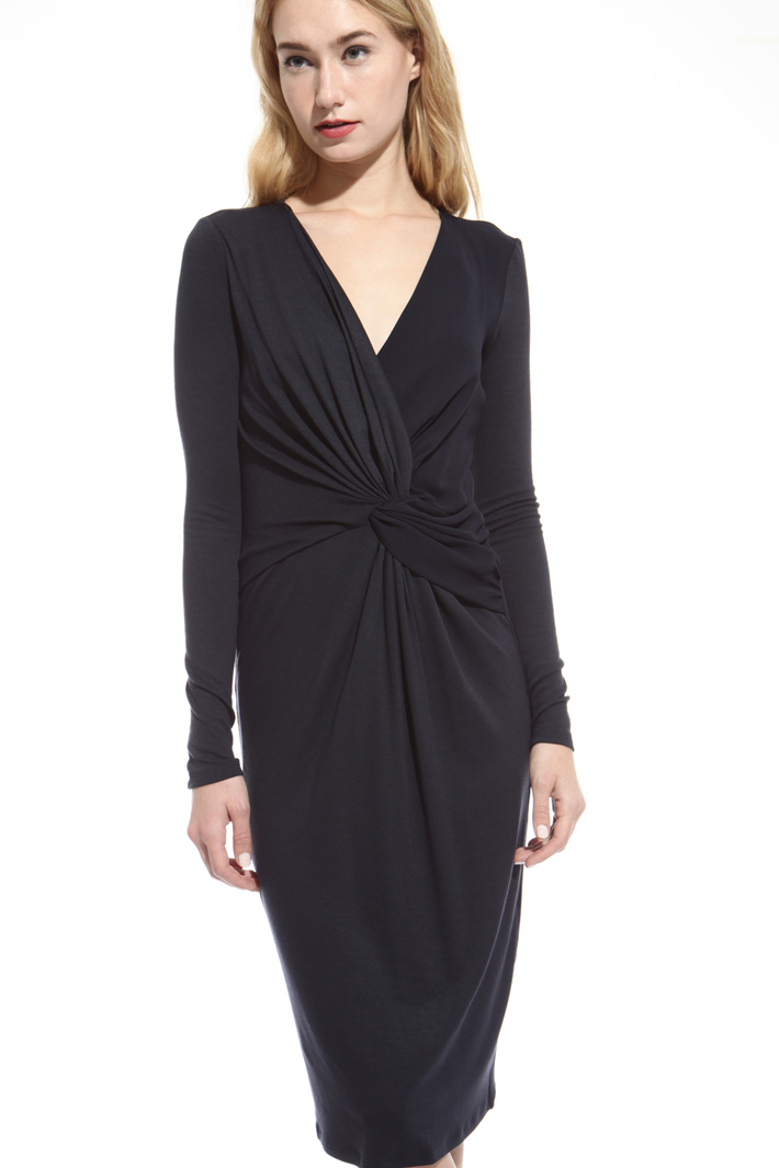 Draped sheath dress Diffusione Tessile