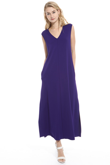 Long jersey crepe dress Diffusione Tessile