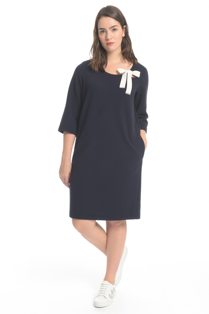 Jersey matelassé dress Intrend