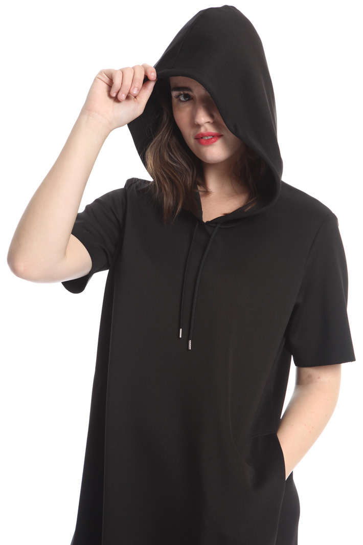 Hooded jersey dress Diffusione Tessile