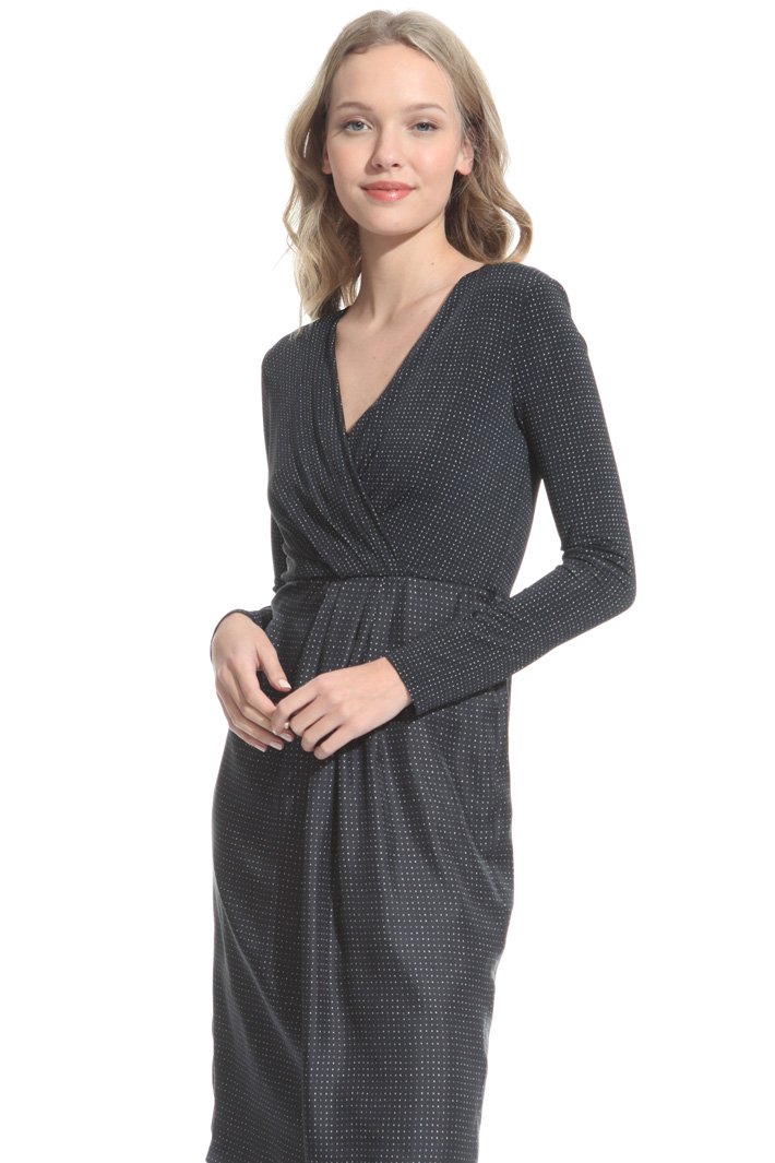 Jersey and satin sheath dress Diffusione Tessile
