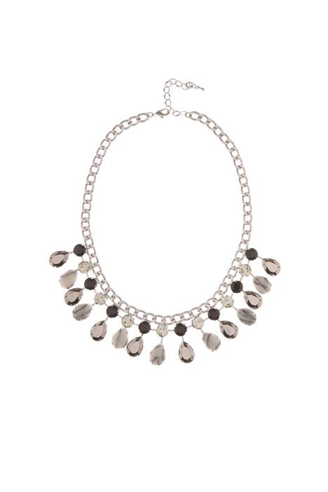 Collana in metallo con pietre Diffusione Tessile