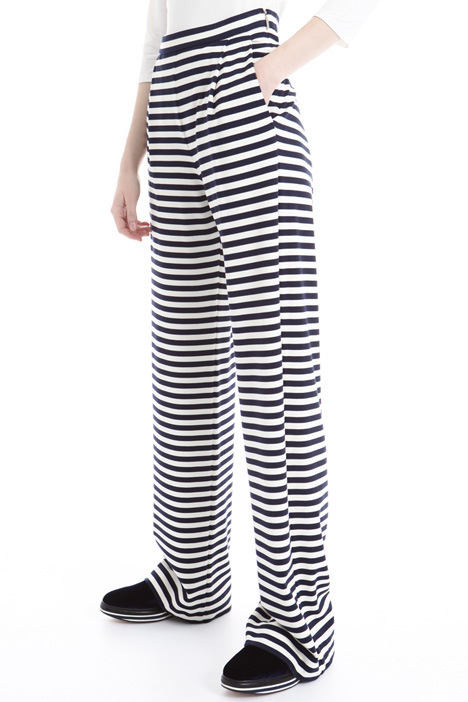 Striped jersey trousers Diffusione Tessile