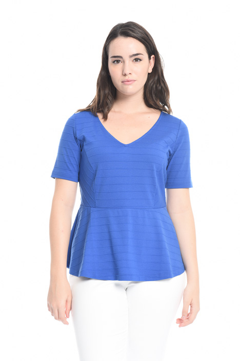 Peplum T-shirt in jersey Intrend