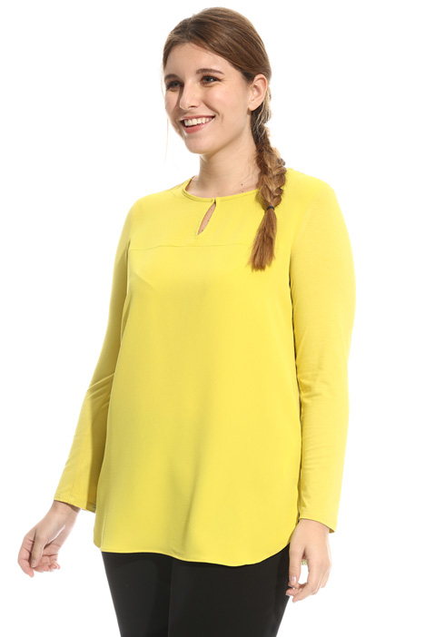 Tunic in fabric and jersey Diffusione Tessile