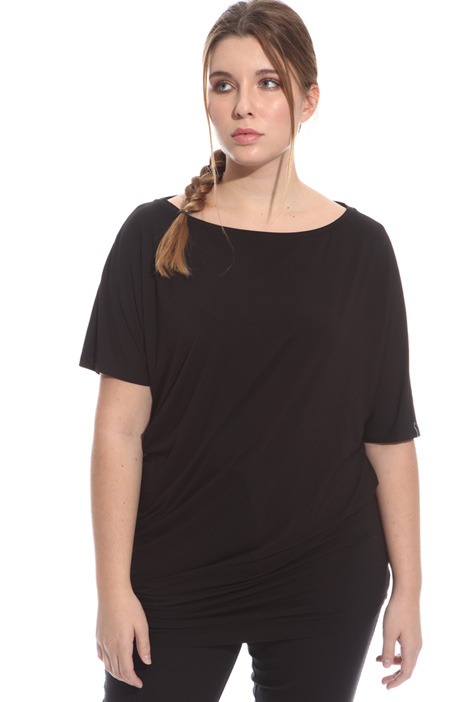 Asymmetric jersey T-shirt Intrend