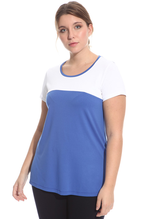 Two-tone jersey T-shirt Intrend