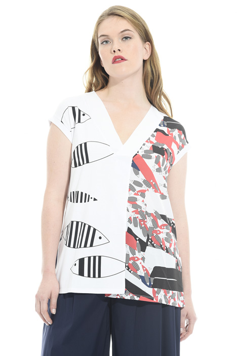 Printed jersey T-shirt Diffusione Tessile