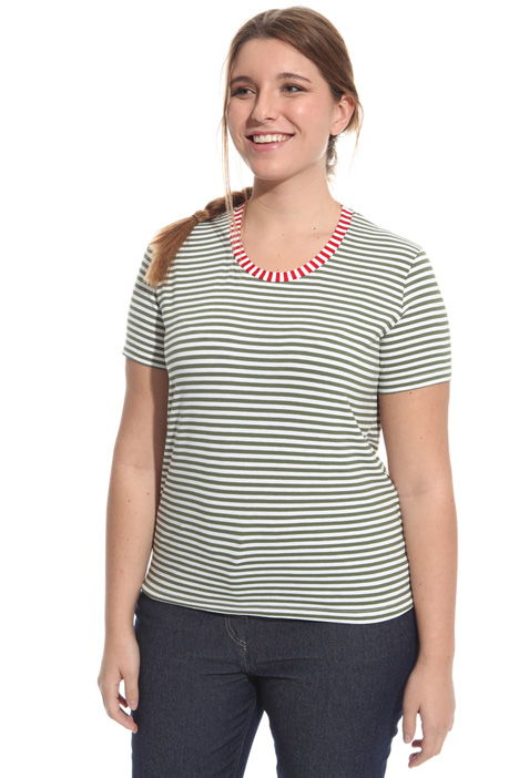 Striped jersey T-shirt Intrend