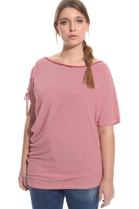 T-shirt con arricciatura Diffusione Tessile