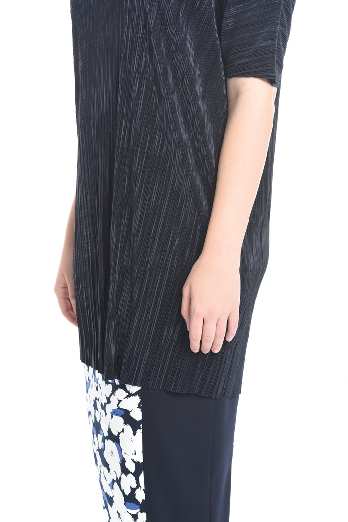 Pleated fabric tunic Intrend