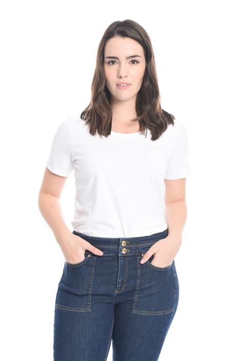 Stretch cotton T-shirt Diffusione Tessile