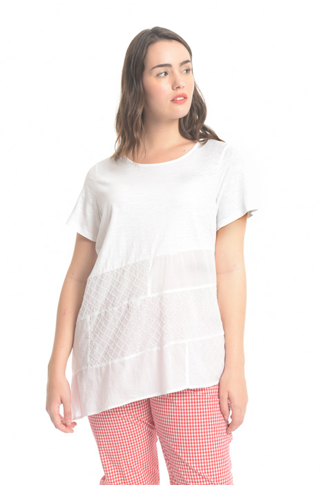 Embroidered jersey T-shirt Diffusione Tessile