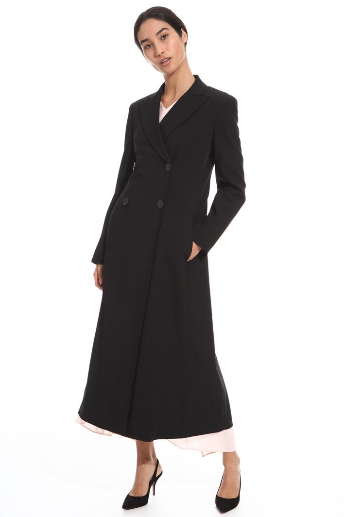 Wool twill topcoat Intrend