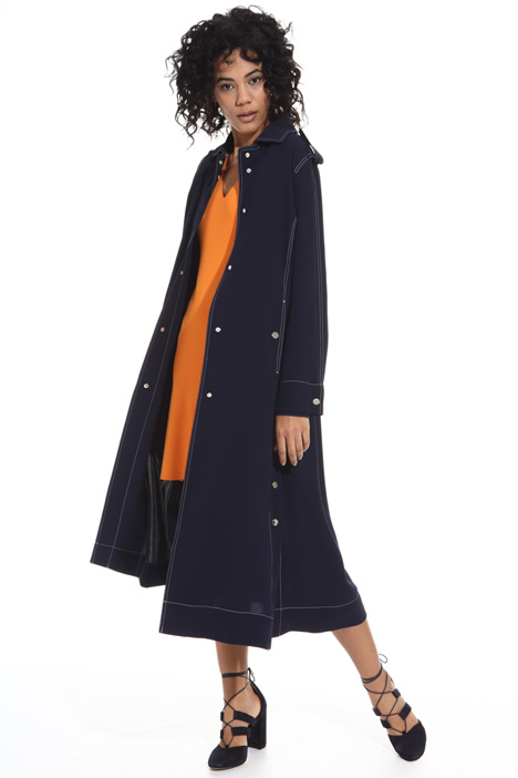 Fluid fabric duster coat Intrend