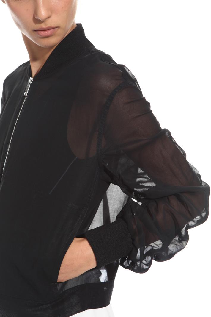 Organza voilé bomber jacket Intrend