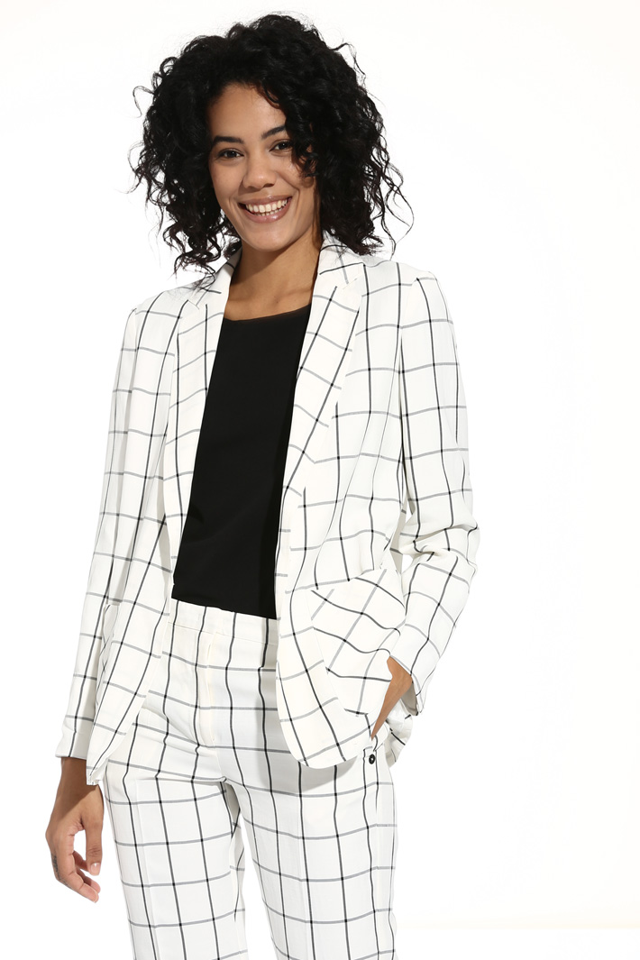 Viscose and linen jacket Intrend
