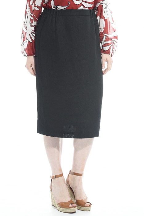 Linen pencil skirt Diffusione Tessile
