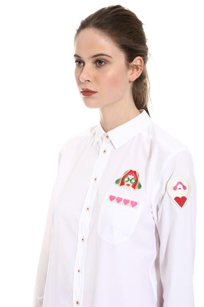 Patch poplin shirt Intrend