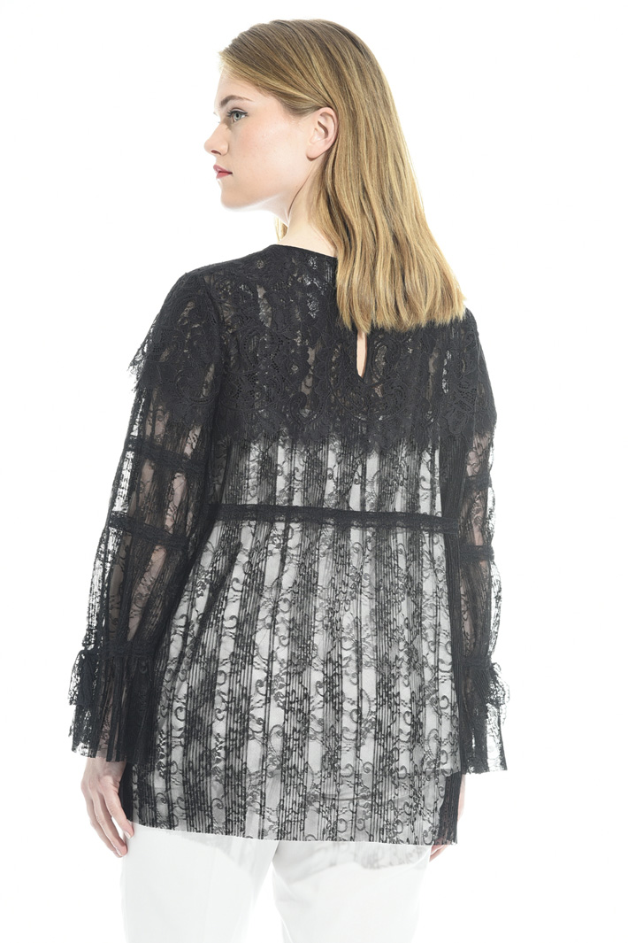 Pleated lace blouse Intrend
