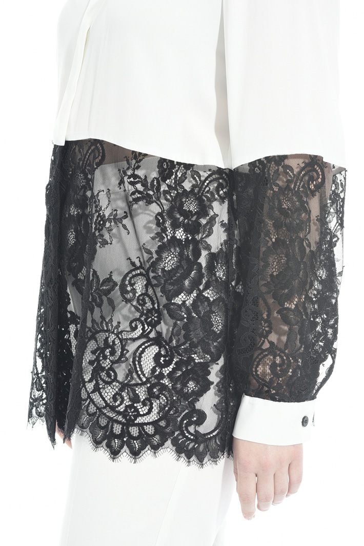 Silk and lace shirt Diffusione Tessile