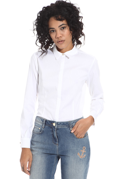 Fitted shirt in cotton Intrend