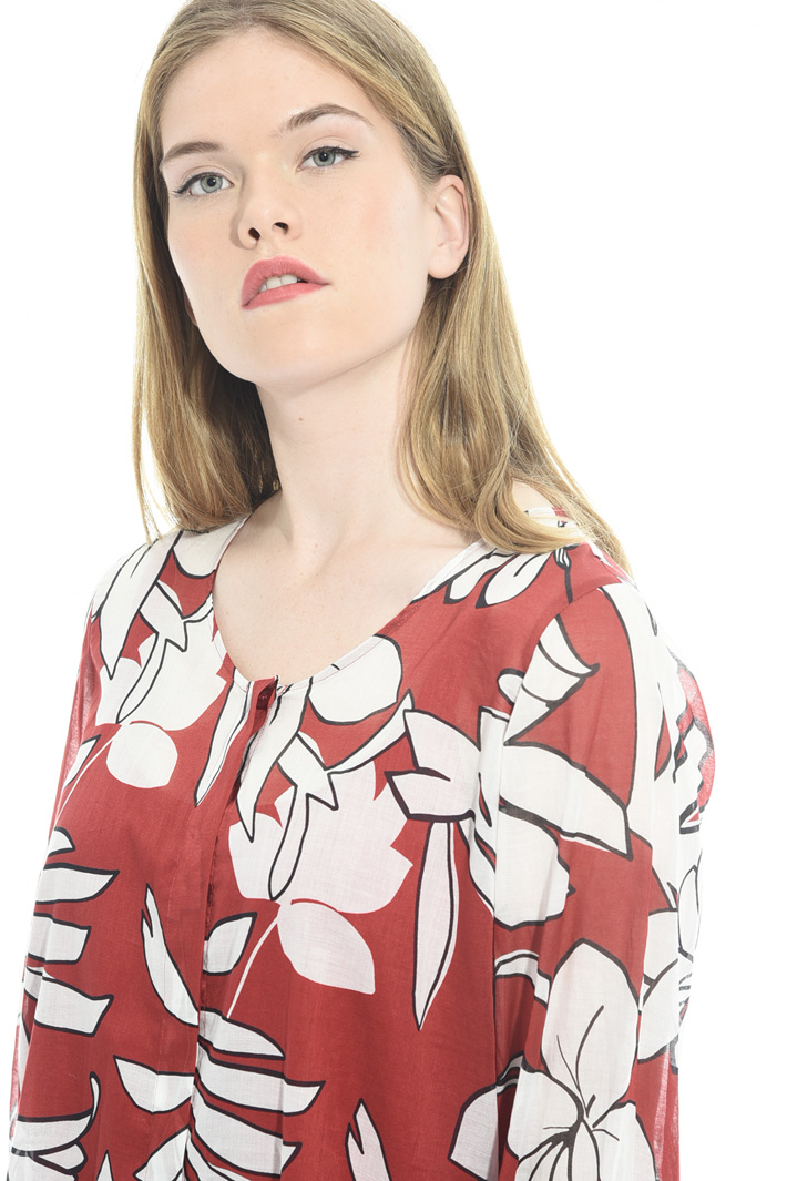 Printed cotton muslin shirt Intrend