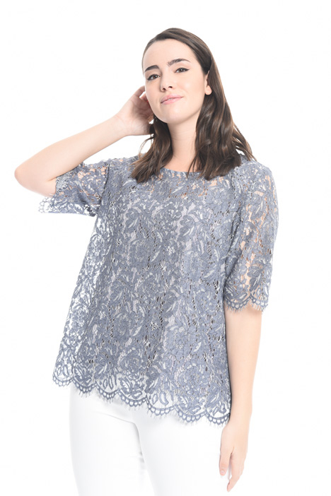 Scalloped lace tunic Diffusione Tessile