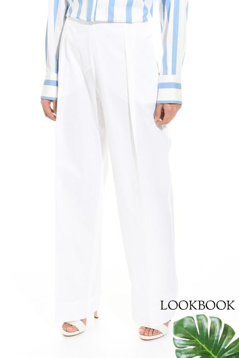 Pantalone ampio a vita alta Diffusione Tessile