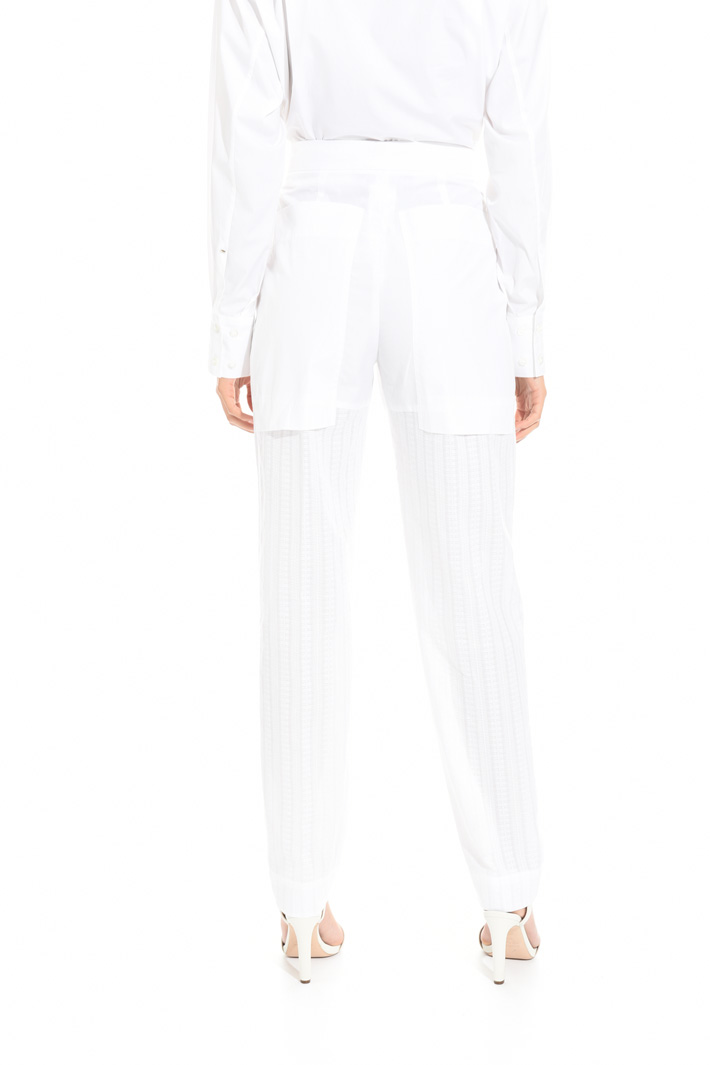 Trousers with jacquard leg  Intrend