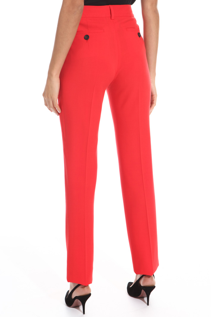 Cigarette trousers in wool  Intrend